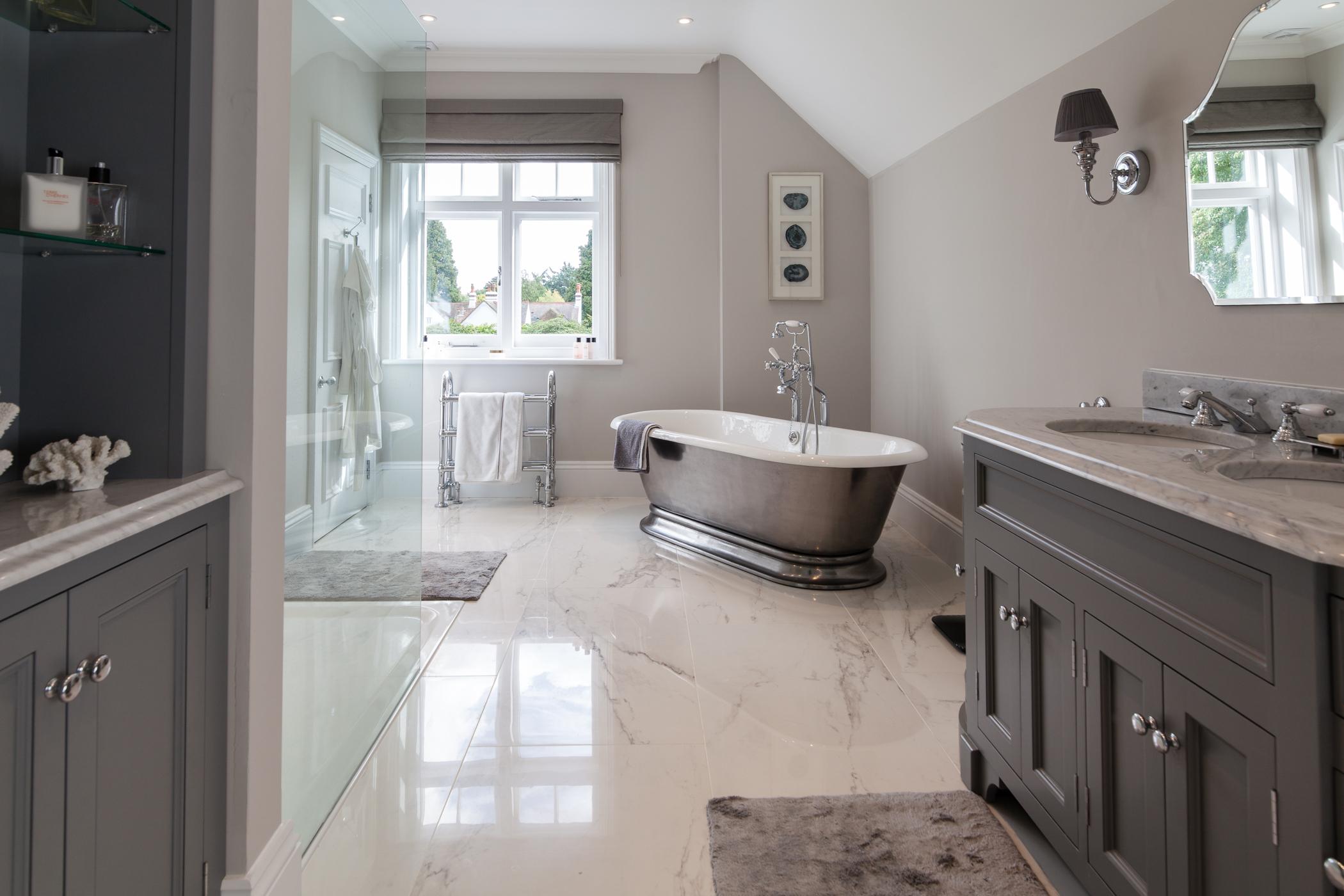 bathroom design, underfloor heating, plumbing etc